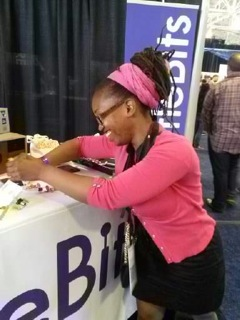 Ayori at the littleBits booth